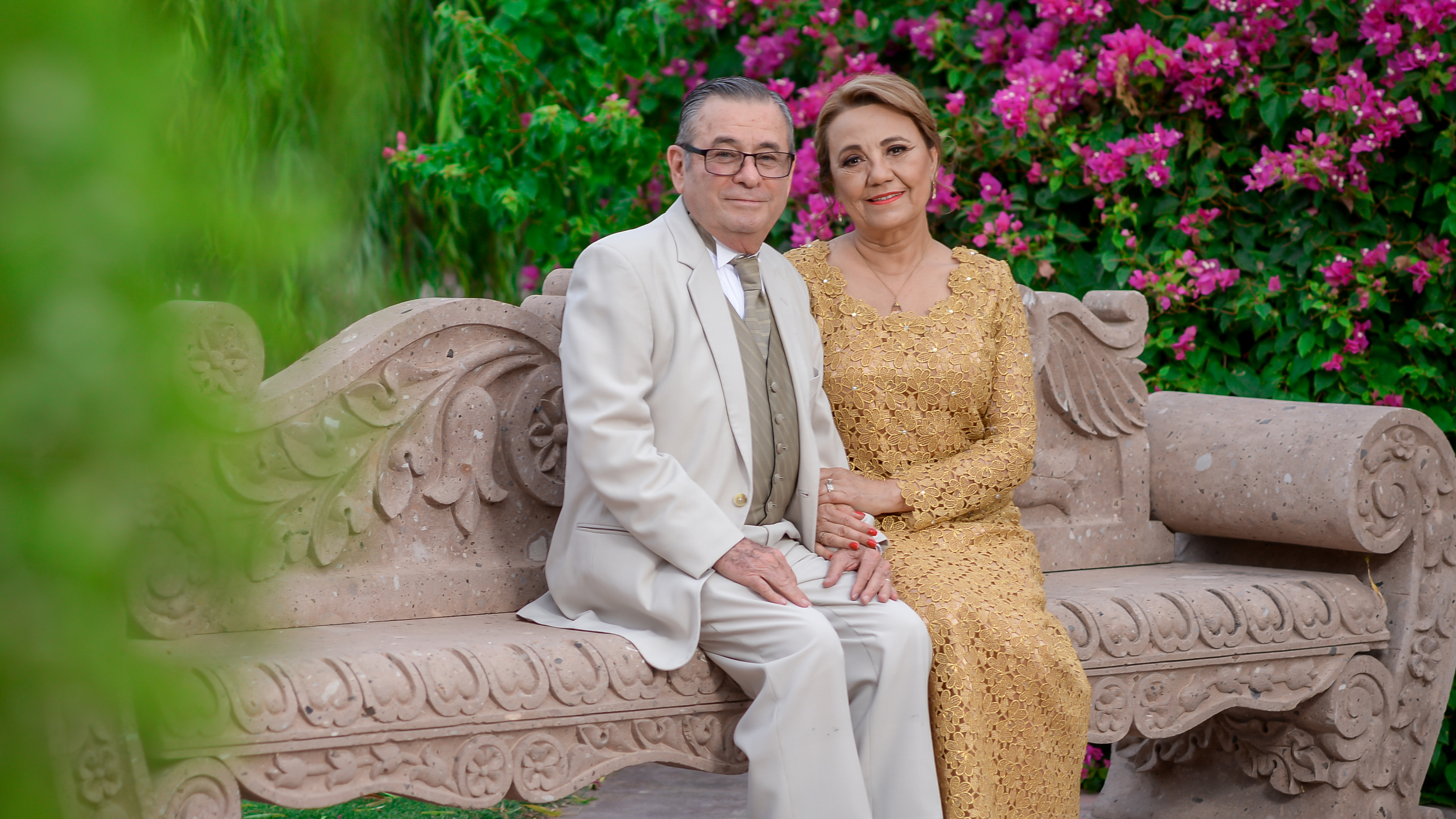 Silvestre Pérez y Martha Bustamante de Pérez celebran 50 años de matrimonio