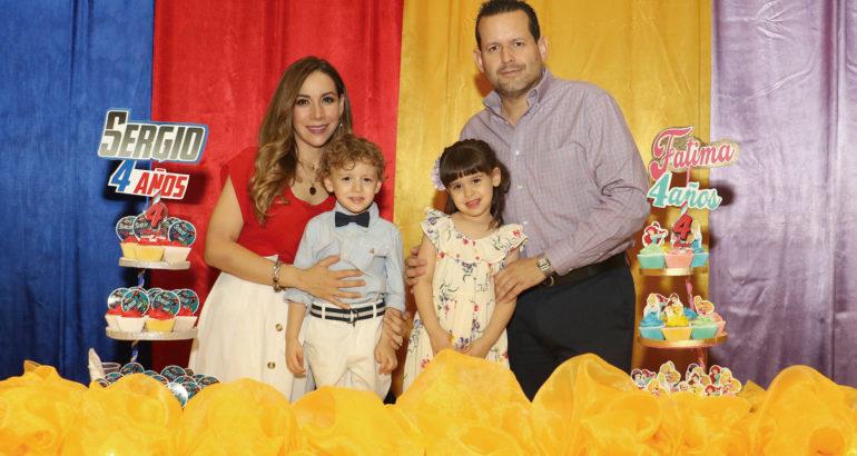 Cumplieron cuatro años Sergio y Fátima Córdova Corella