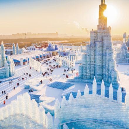 Una ciudad entera convertida en hielo