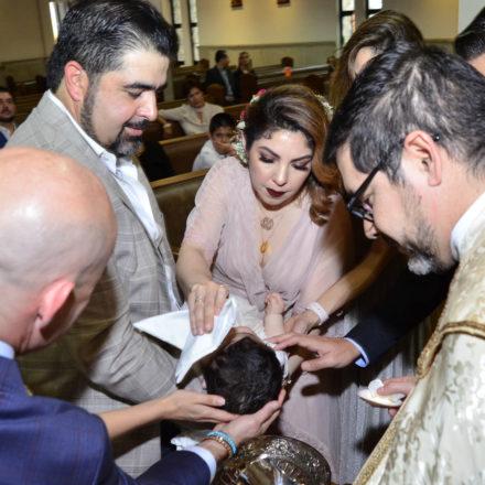 Celebran bautizo de Manuel Eduardo Gallegos Mexía